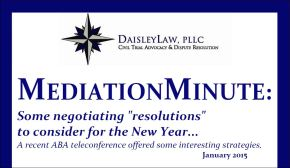 Mediation Minute - January 2015